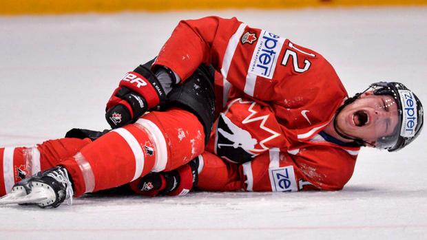 Znalezione obrazy dla zapytania injury ice hockey